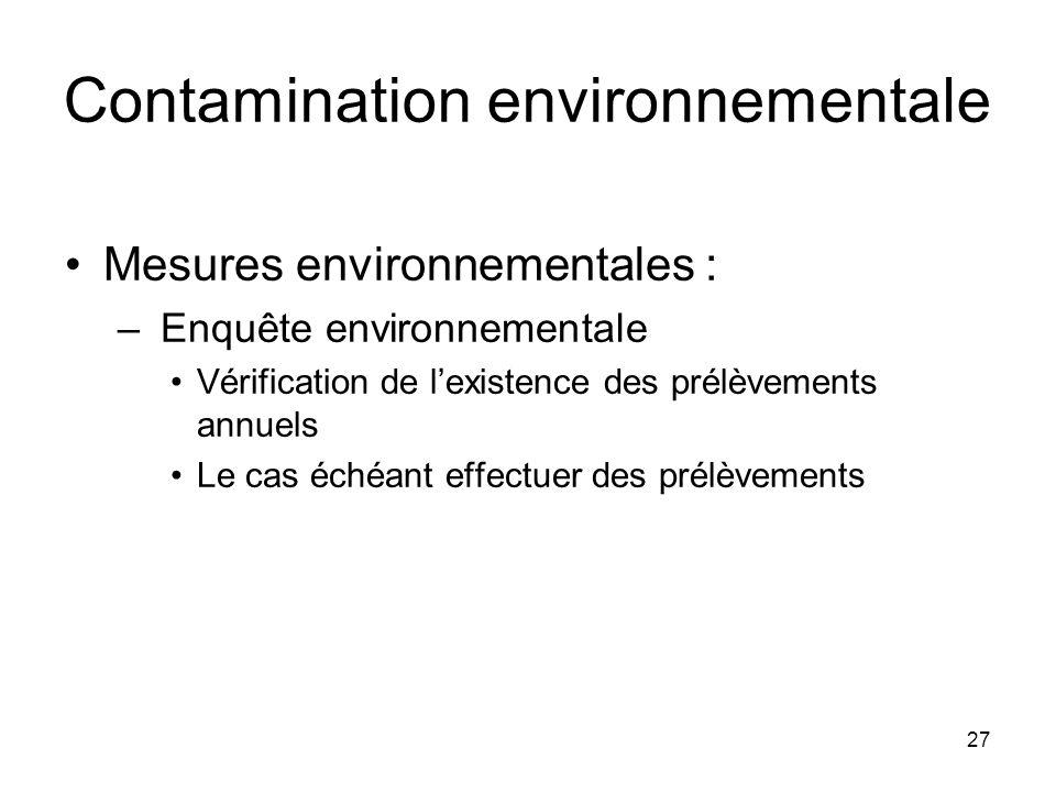 Contamination environnementale