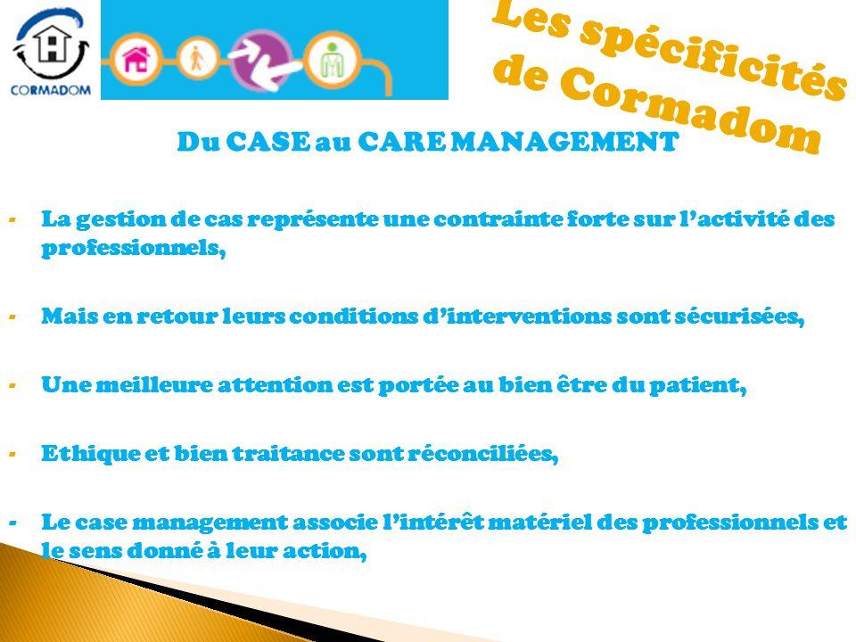Les spécificités de Cormadom Du CASE au CARE MANAGEMENT