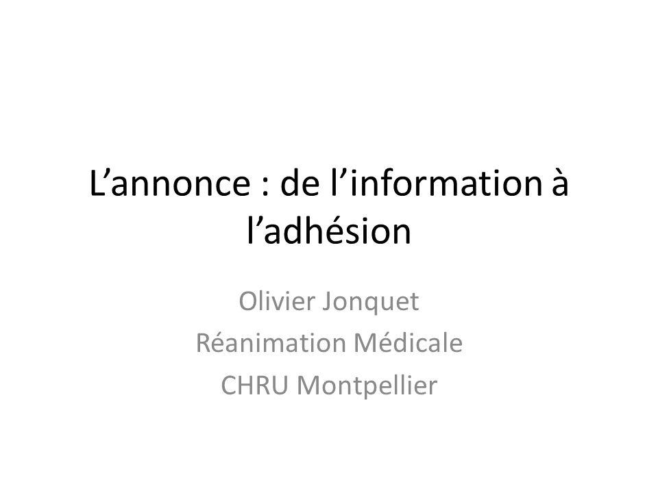 L'annonce : de l'information à l'adhésion