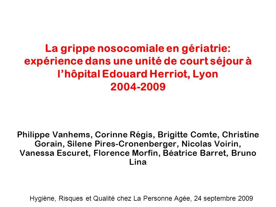 Hygiène, Risques et Qualité chez La Personne Agée, 24 septembre 2009