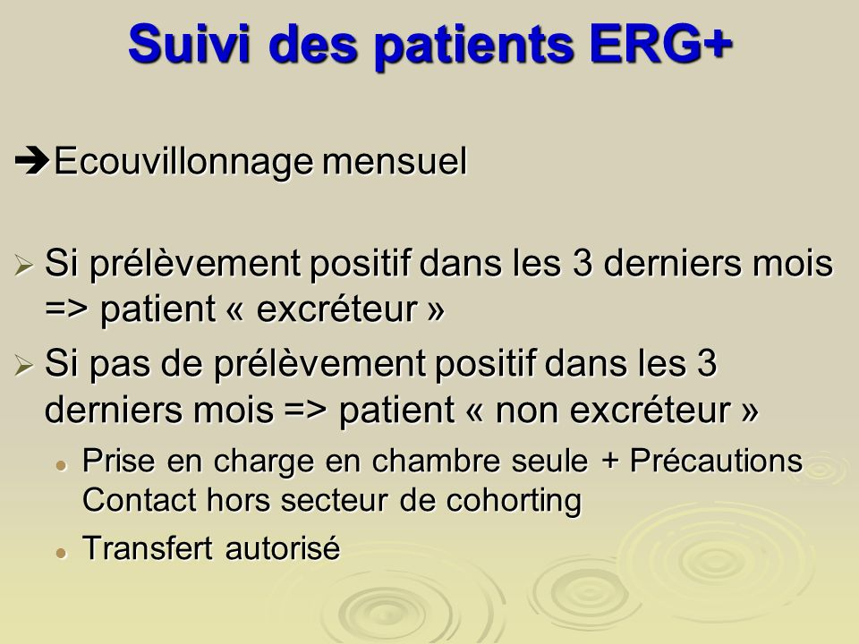 Suivi des patients ERG+