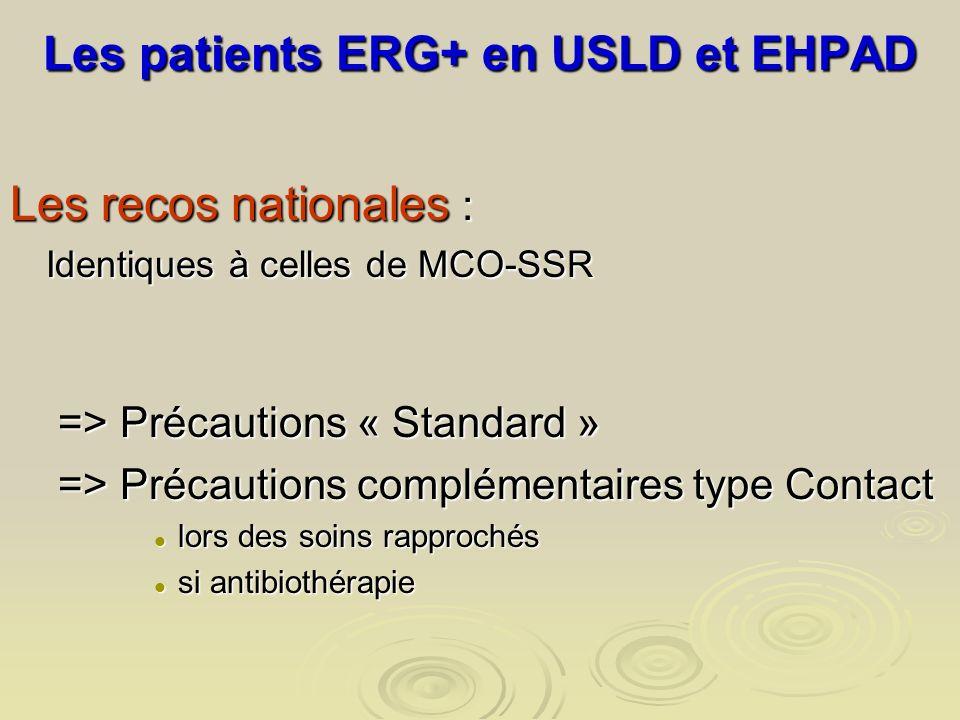 Les patients ERG+ en USLD et EHPAD
