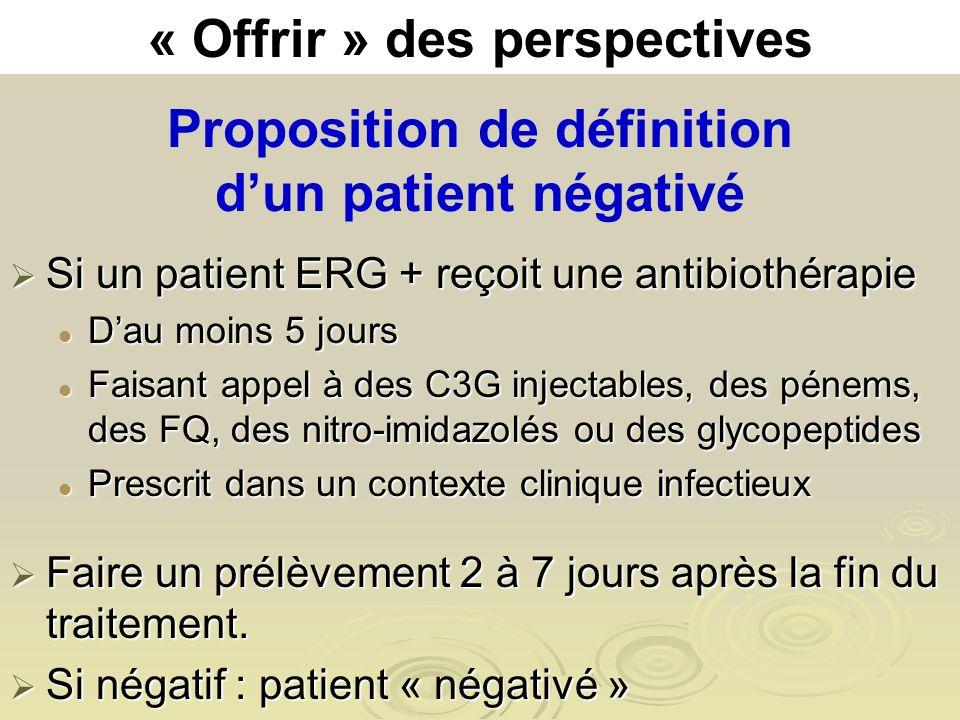 Proposition de définition d'un patient négativé