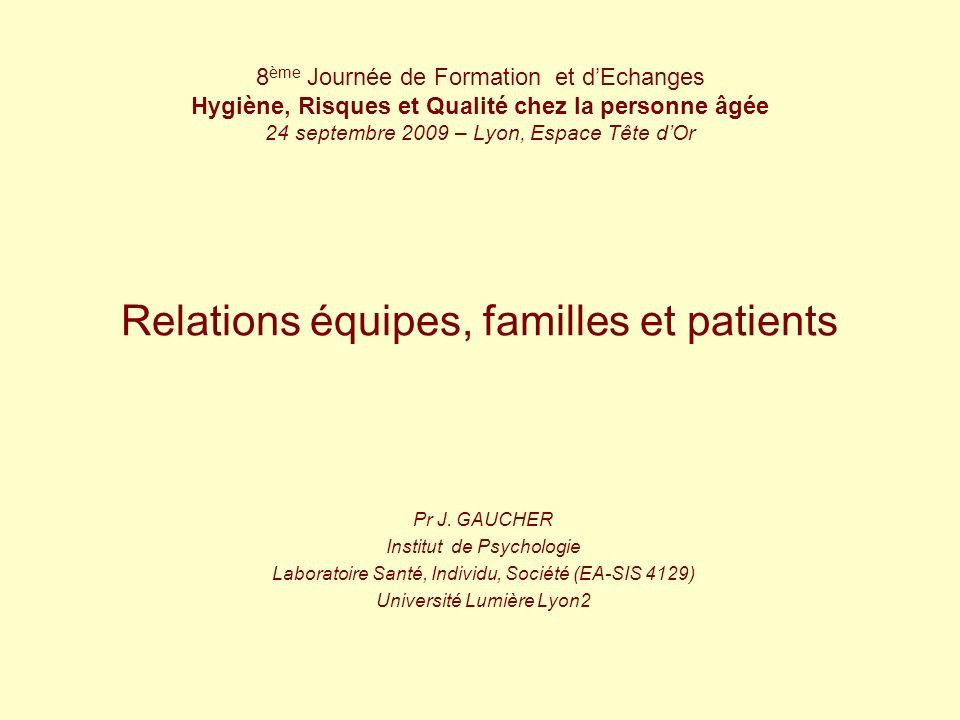 Relations équipes, familles et patients