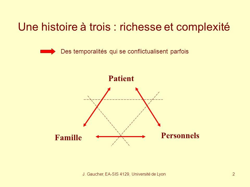 Une histoire à trois : richesse et complexité