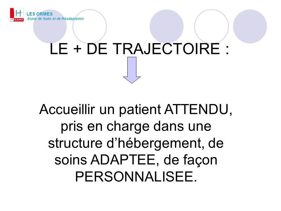 LES ORMESSoins de Suite et de Réadaptation. LE + DE TRAJECTOIRE :