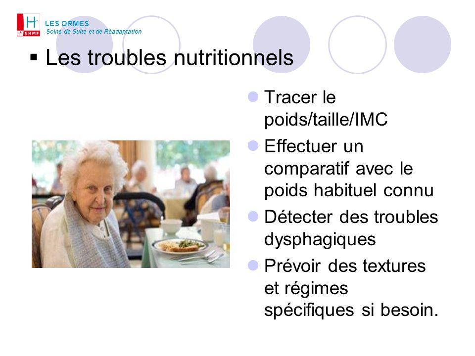Les troubles nutritionnels