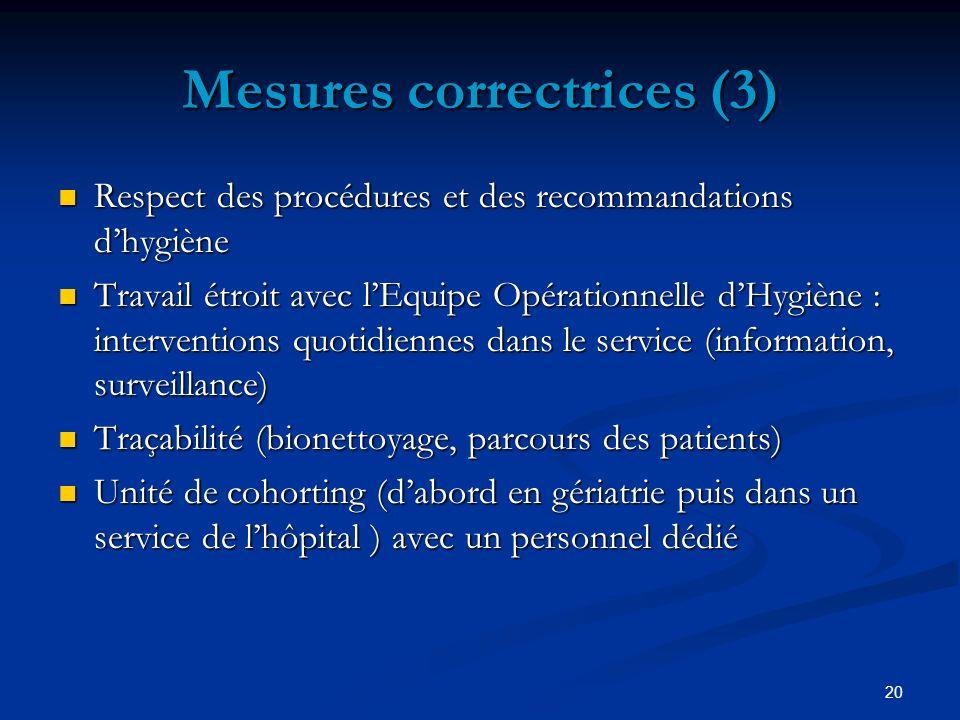 Mesures correctrices (3)