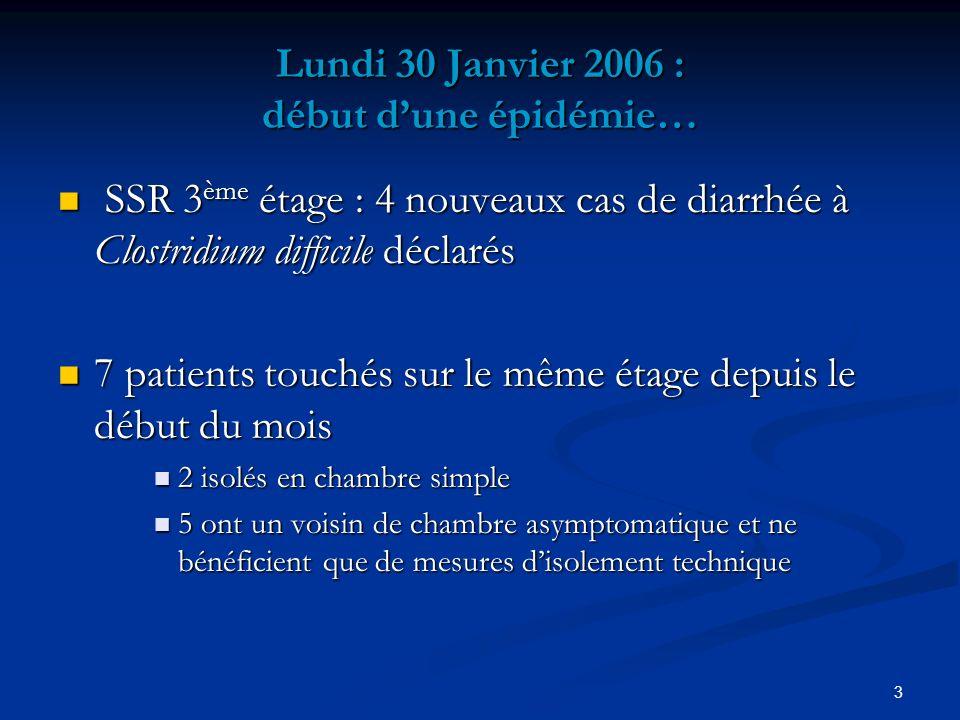 Lundi 30 Janvier 2006 : début d'une épidémie…
