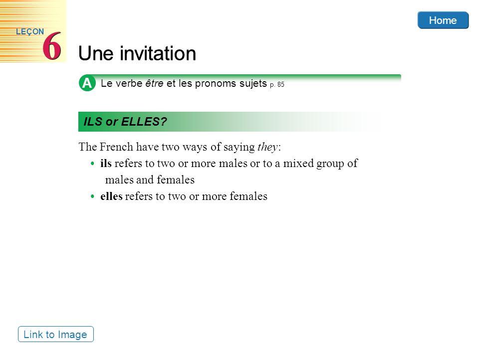 6 Une invitation A ILS or ELLES