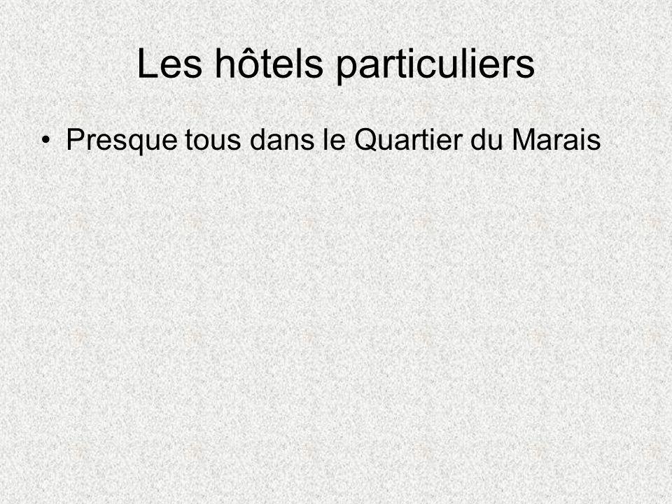Les hôtels particuliers