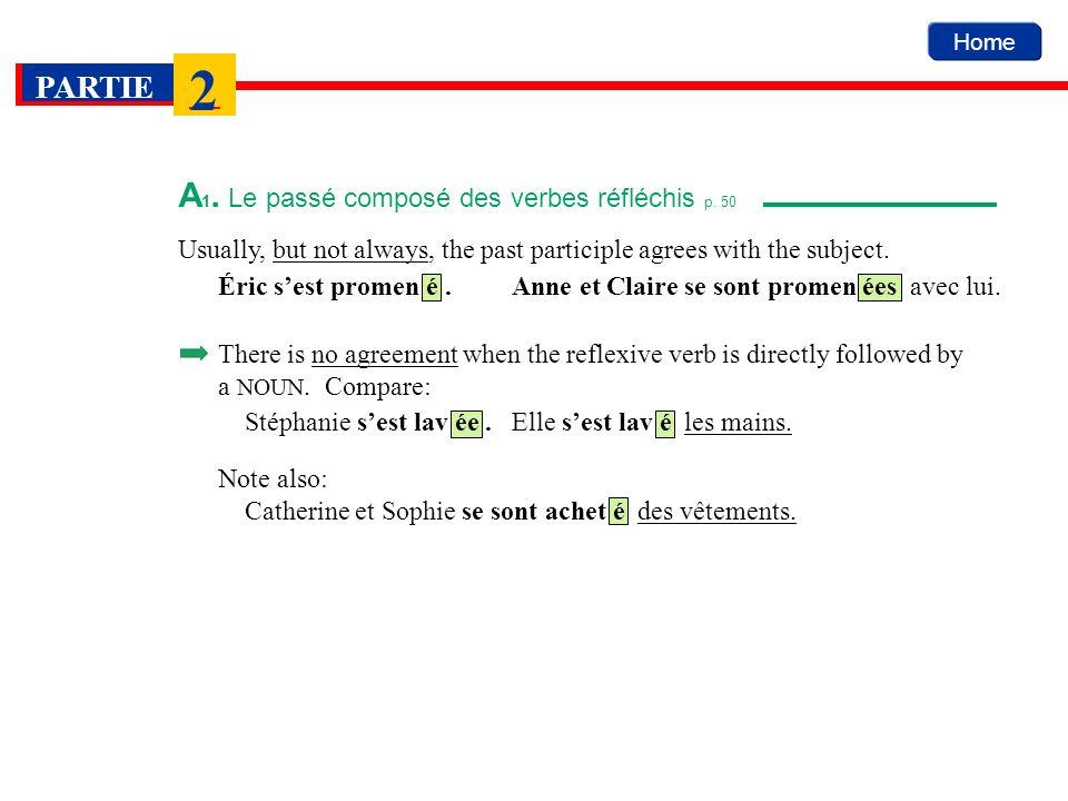 A1. Le passé composé des verbes réfléchis p. 50