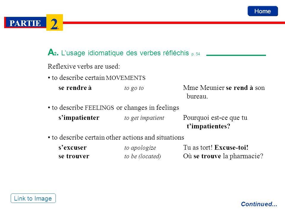 A2. L'usage idiomatique des verbes réfléchis p. 54