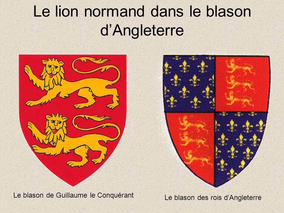 Le lion normand dans le blason d'Angleterre