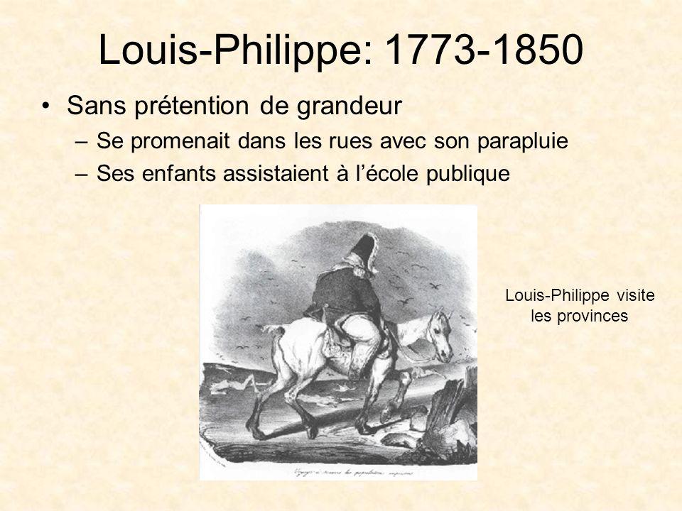 Louis-Philippe visite les provinces
