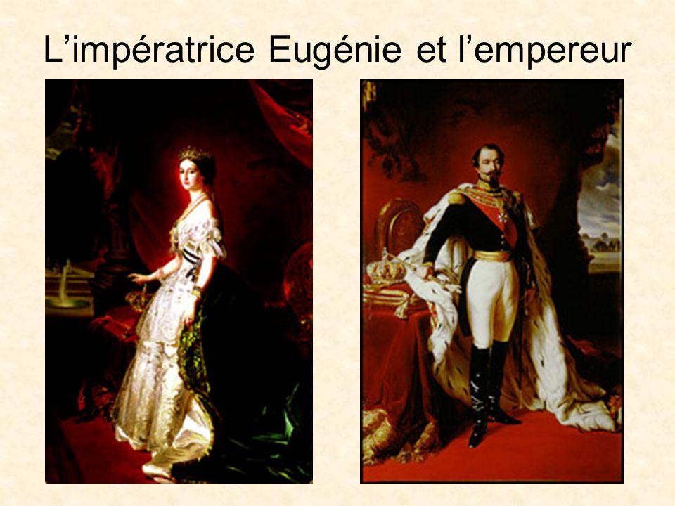 L'impératrice Eugénie et l'empereur