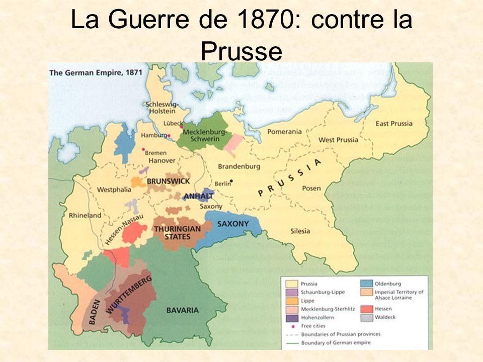 La Guerre de 1870: contre la Prusse