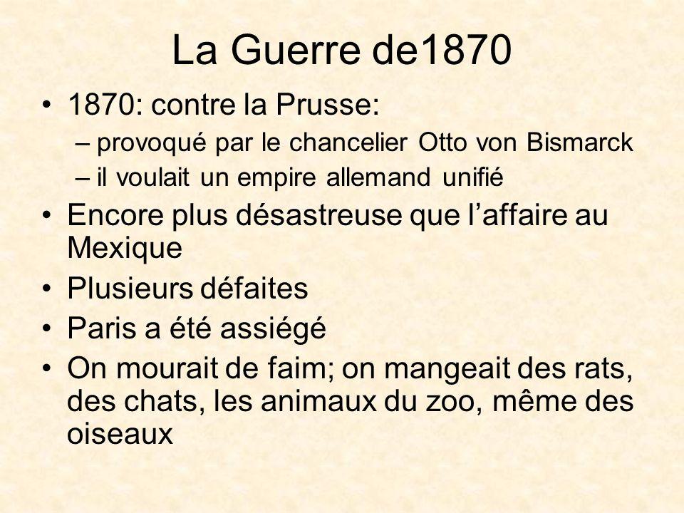 La Guerre de1870 1870: contre la Prusse: