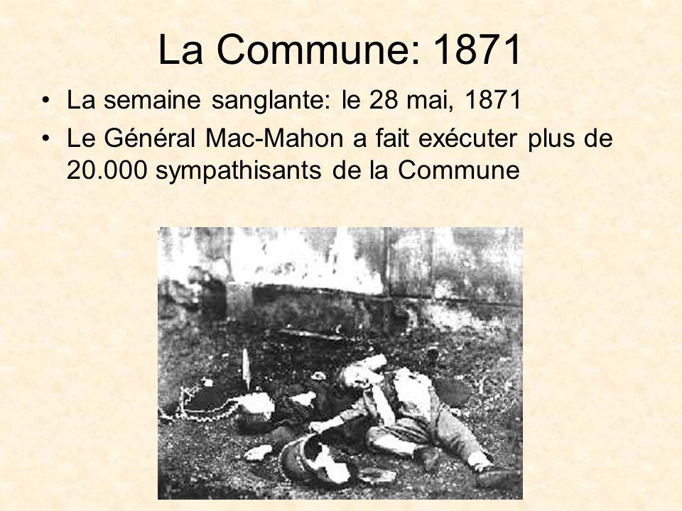 La Commune: 1871 La semaine sanglante: le 28 mai, 1871