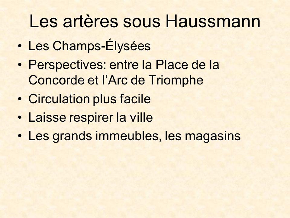 Les artères sous Haussmann