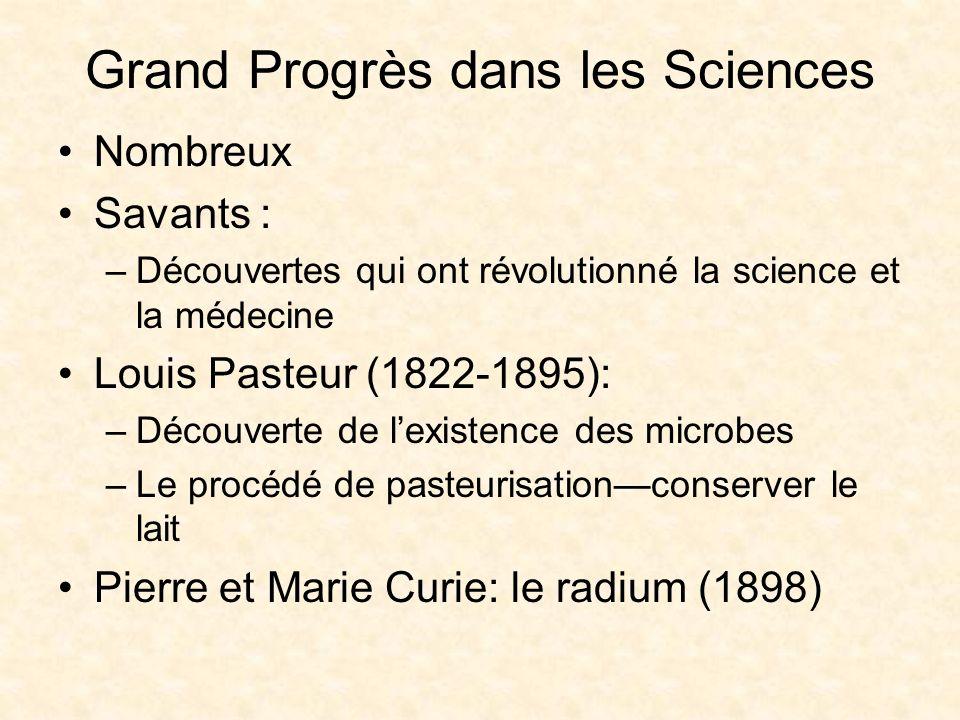 Grand Progrès dans les Sciences
