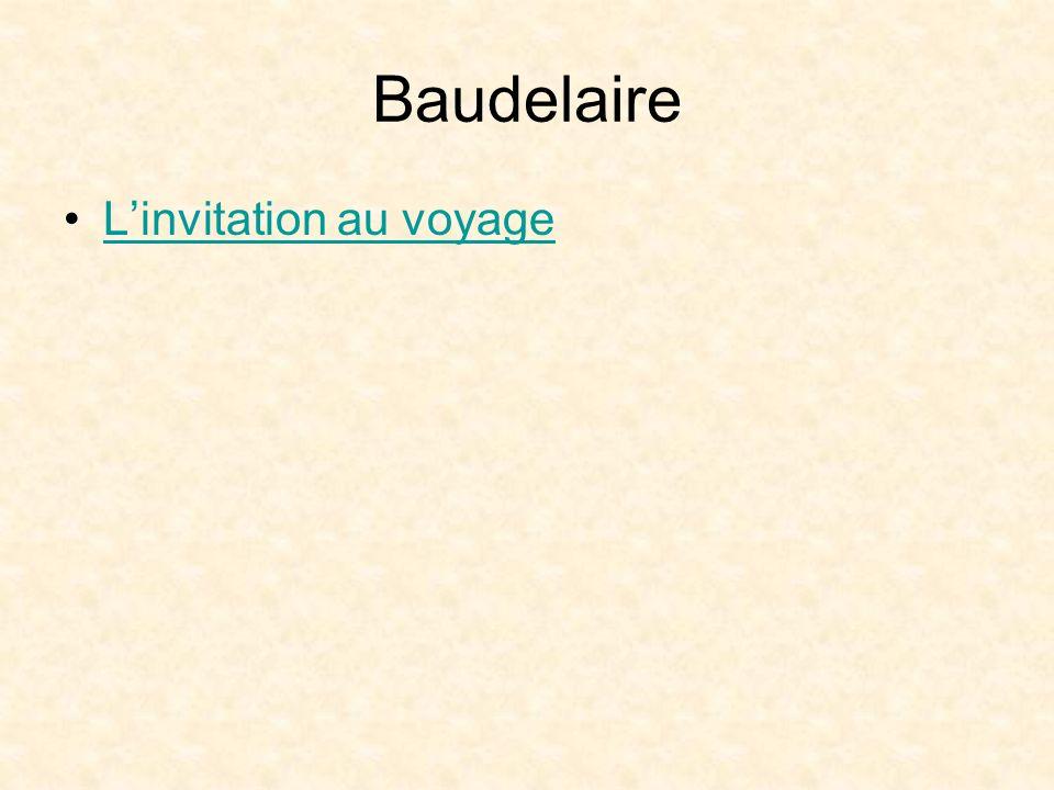 Baudelaire L'invitation au voyage