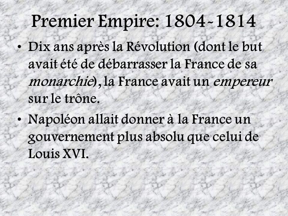Premier Empire: 1804-1814