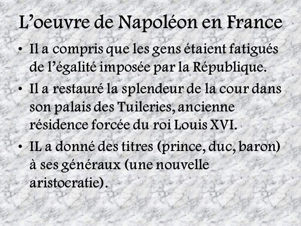 L'oeuvre de Napoléon en France