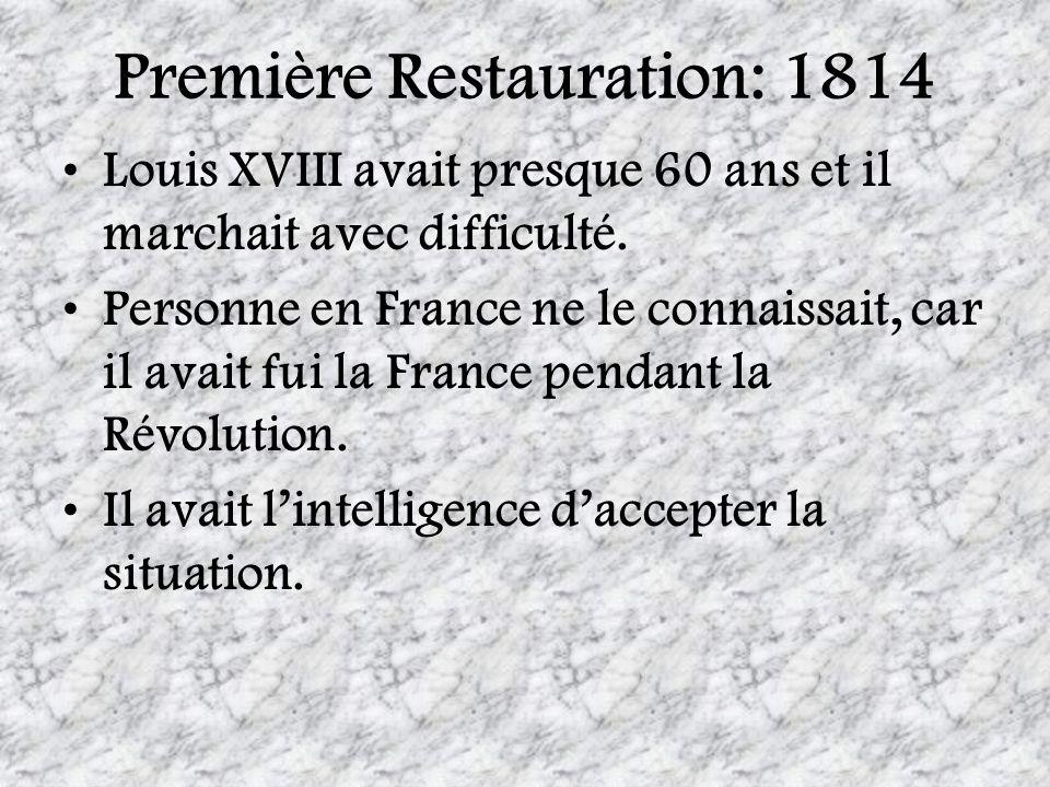 Première Restauration: 1814