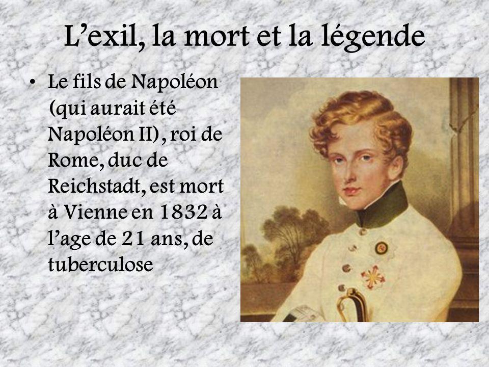 L'exil, la mort et la légende