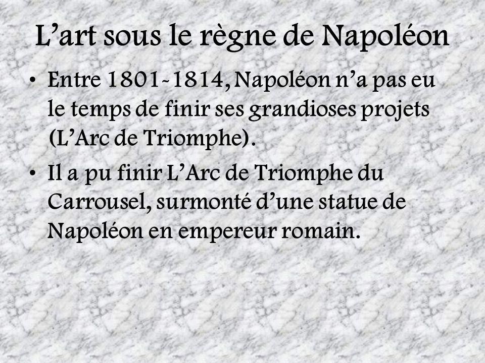 L'art sous le règne de Napoléon