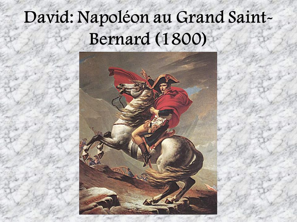 David: Napoléon au Grand Saint-Bernard (1800)