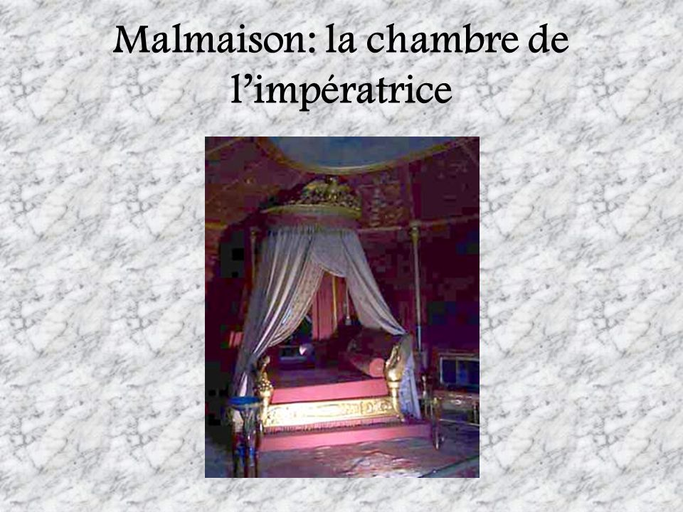 Malmaison: la chambre de l'impératrice