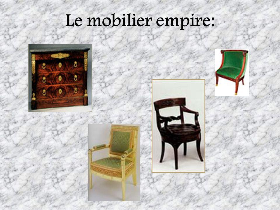 Le mobilier empire: