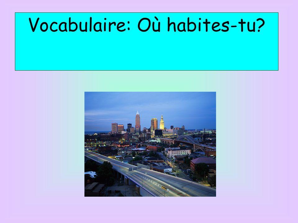 Vocabulaire: Où habites-tu