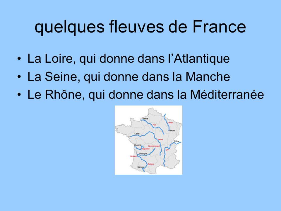 quelques fleuves de France