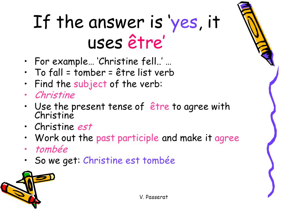 If the answer is 'yes, it uses être'