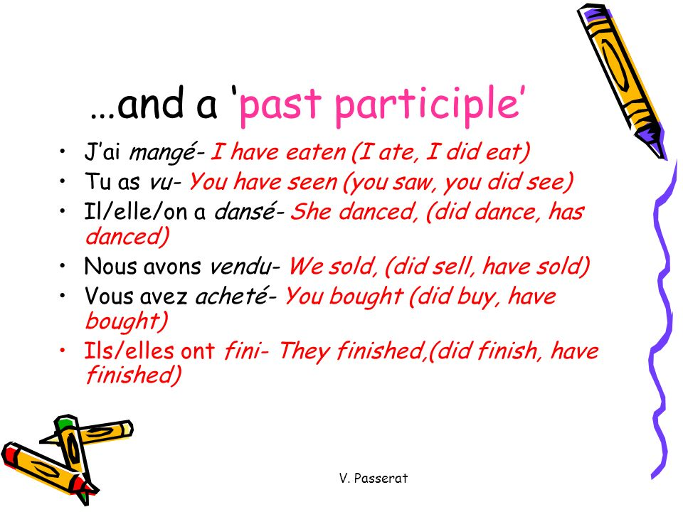 …and a 'past participle'