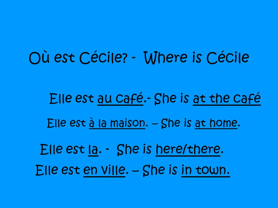 Où est Cécile - Where is Cécile