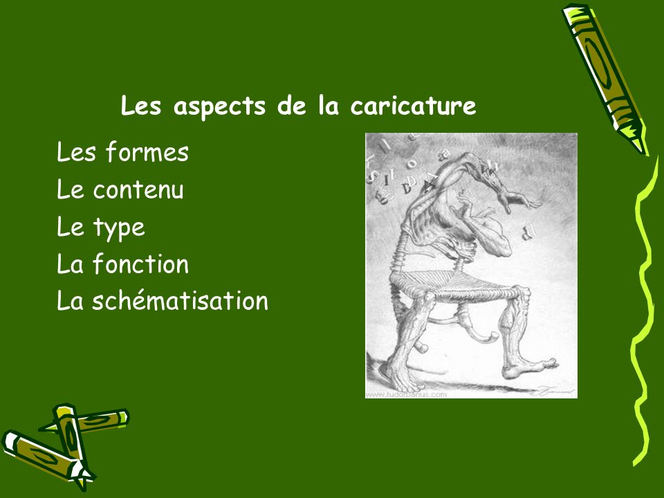 Les aspects de la caricature
