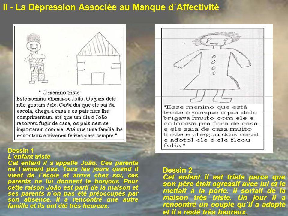 II - La Dépression Associée au Manque d´Affectivité
