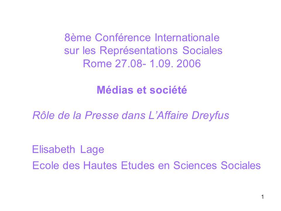 Rôle de la Presse dans L'Affaire Dreyfus Elisabeth Lage