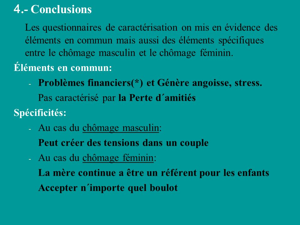 4.- Conclusions