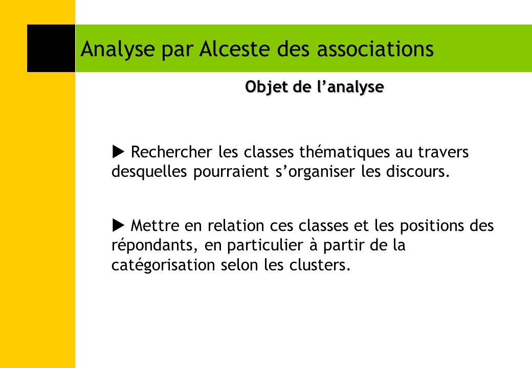Analyse par Alceste des associations