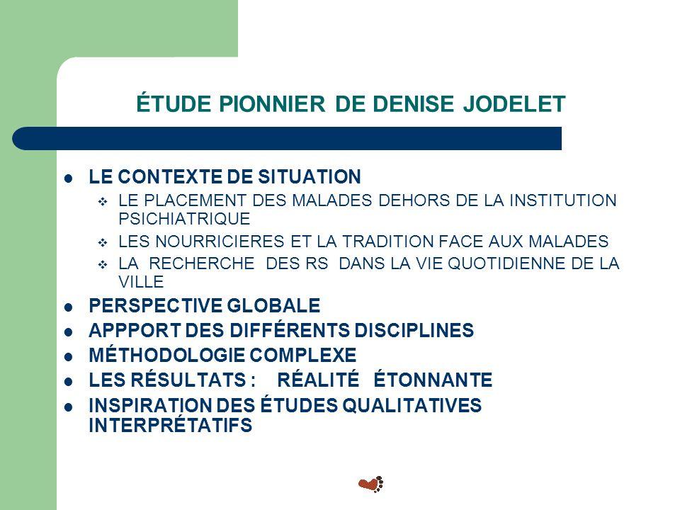 ÉTUDE PIONNIER DE DENISE JODELET