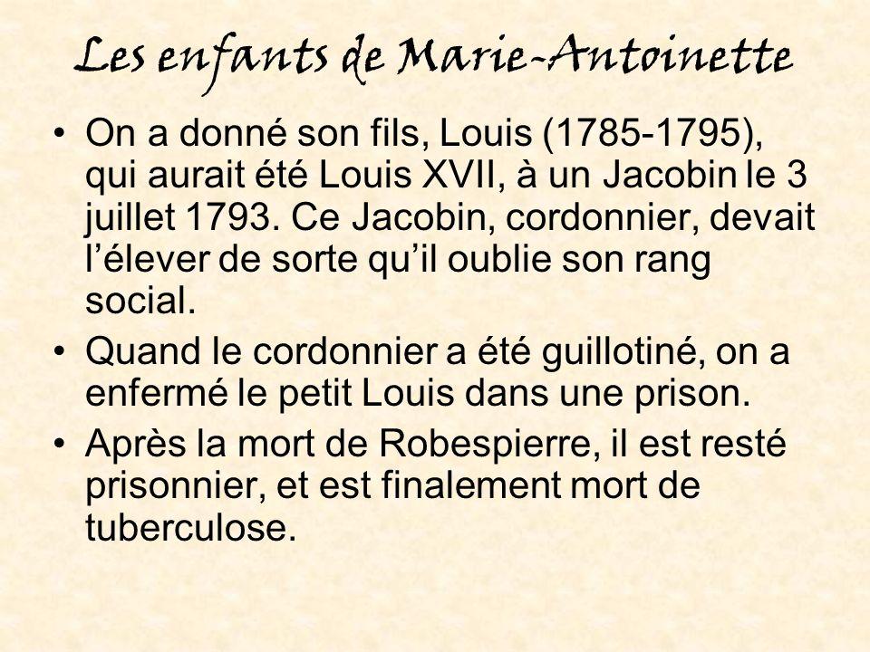 Les enfants de Marie-Antoinette