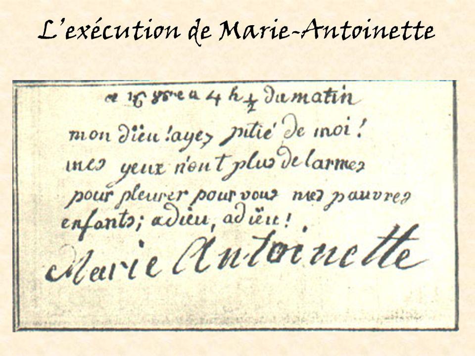 L'exécution de Marie-Antoinette