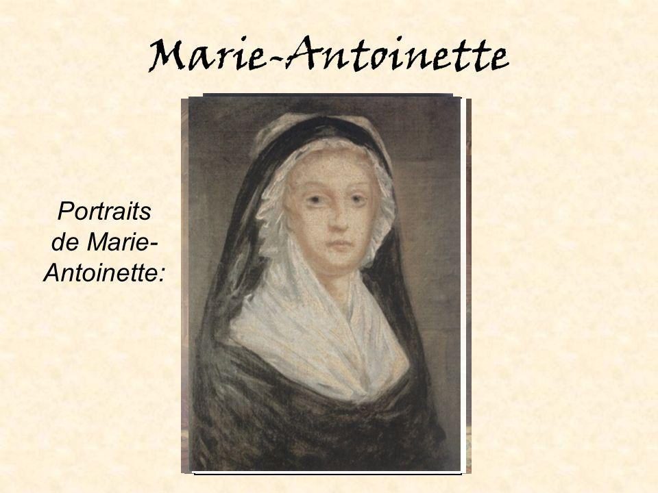 Portraits de Marie-Antoinette: