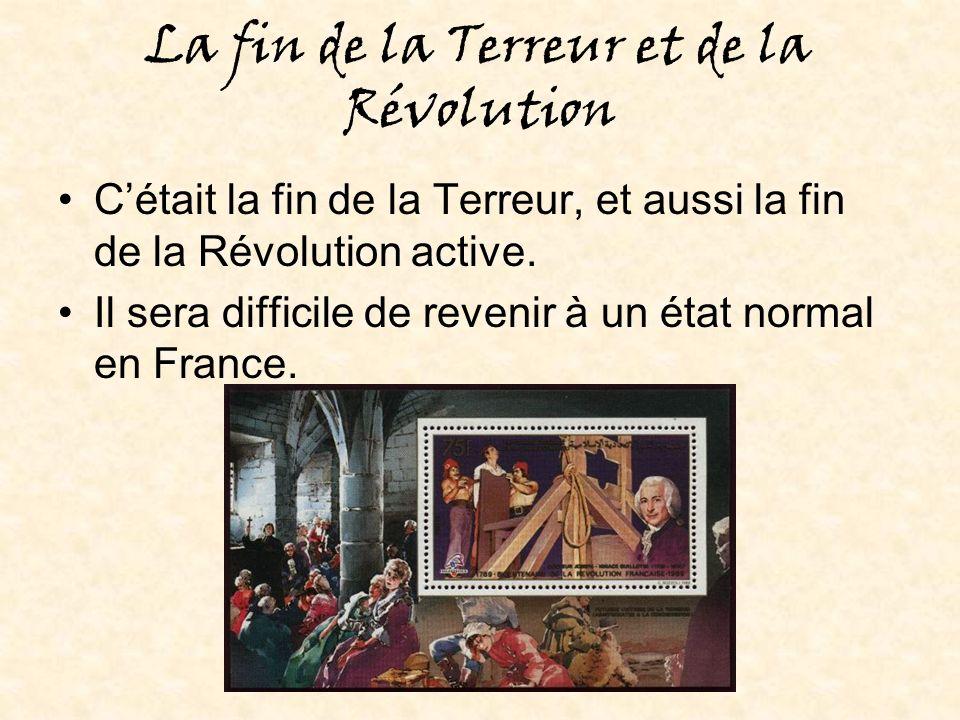 La fin de la Terreur et de la Révolution