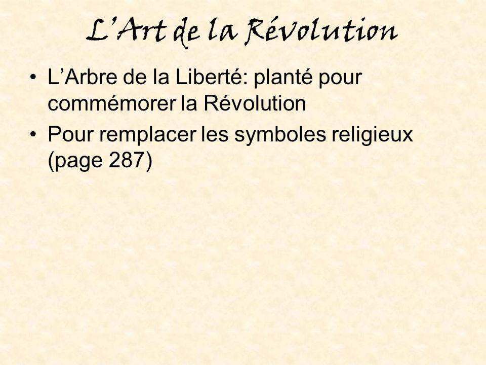 L'Art de la Révolution L'Arbre de la Liberté: planté pour commémorer la Révolution.